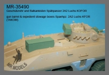 MR-35490  gun barrel & expedient stowage boxes Spaehpz. 2A2 Luchs KFOR   (TAKOM)