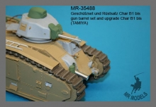 MR-35488  gun barrel set and upgrade Char B1 bis    (TAMIYA)