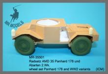 MR-35501  Radsatz AMD 35 Panhard 178 und Abarten 2.Wk. (ICM)