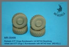 MR-35499 Radsatz ATF Dingo Bundeswehr mit MITAS Bereifung  (REVELL)