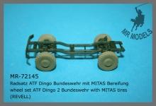 MR-72145  Radsatz ATF Dingo Bundeswehr mit MITAS Bereifung    (REVELL)