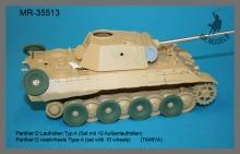 MR-35513 Panther D Laufrollen Typ A (Set mit 10 Außenlaufrollen)   (TAMIYA)