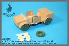 MR-35511  wheel set  s.gl.E.PKW  Horch 108  Set #2   (ICM, TAMIYA)