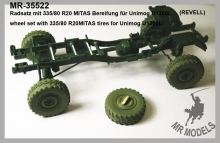 MR-35522  wheel set with 335/80 R20MITAS tires for Unimog U1300L            (REVELL)
