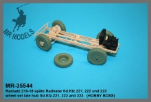 MR-35544  Radsatz 210-18 späte Radnabe Sd.Kfz.221, 222 und 223       (HOBBY BOSS)
