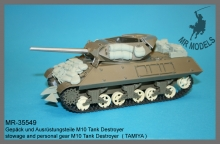 MR-35549   stowage and personal gear M10 Tank Destroyer  ( TAMIYA )
