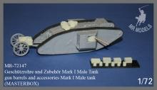 MR-72147  Geschützrohre und Zubehör Mark I Male Tank   (MASTERBOX)