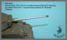 MR-35521 Geschützrohr 76mm M1A1C mit Mündungsschutzring für Sherman  (TAMIYA)