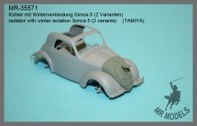 MR-35571  winterisation cover ( 2 types) Simca 5 Wehrmacht     (TAMIYA)