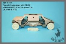 MR-35569    wheel set M35 ADGZ armoured car             (HOBBY BOSS)