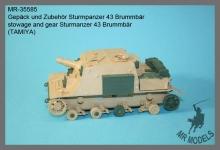 MR-35585  Gepäck und Zubehör Sturmpanzer 43 Brummbär     (TAMIYA)