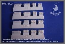 MR-72122   Holzkisten No.2   (4 versch. Kisten aus Holz, 16 Stück enth.)