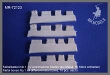 MR-72123  Metallkästen No.1  (4 verschiedene Kästen aus Metall, 16 Stück enthalten)