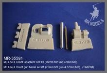 MR-35591  M3 Lee & Grant Geschütz Set #1 (75mm M2 und 37mm M6)                   (TAKOM)