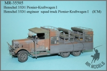 MR-35505   Henschel 33D1 engineer  squad truck Pionier-Kraftwagen I    (ICM)