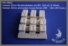 MR-35632  Vietnam 20mm Munitionskästen exUSN  (Set mit 12 Stück)