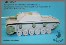 MR-35642    Saukopf gun mount and and vehicle upgrade parts Sturmhaubitze 42    (MBK / DAS WERK 2in1 kit)