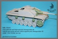 MR-35643   Saukopf gun mount and and vehicle upgrade parts Sturmgeschütz III   MBK / DAS WERK 2in1 kit