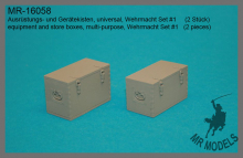 MR-16058  equipment and store boxes, multi-purpose, Wehrmacht Set #1   (2 pieces)