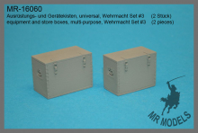 MR-16060  equipment and store boxes, multi-purpose, Wehrmacht Set #3    (2 pieces)